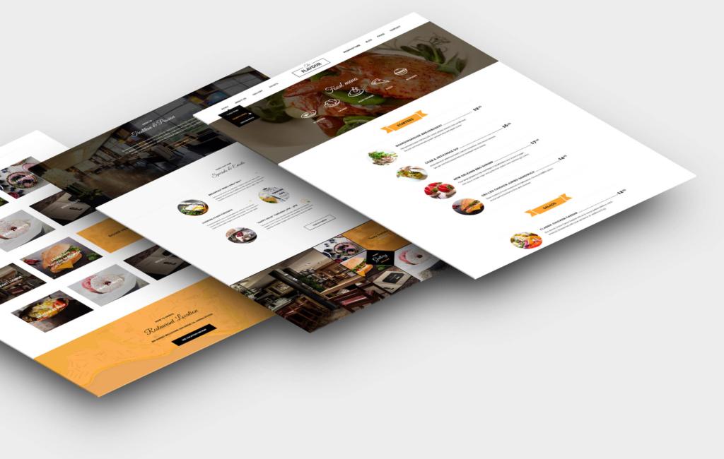 ejemplo diseño páginas web restaurante